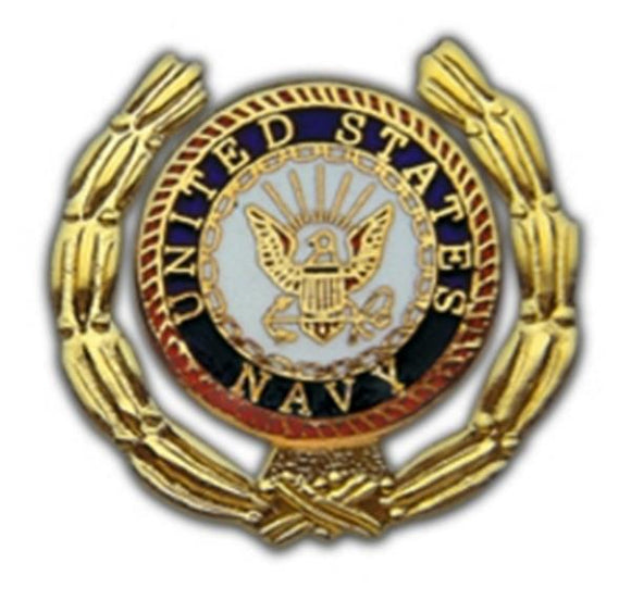 Navy Wreath Small Pin