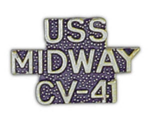 USS MIDWAY CV-41 Small Pin