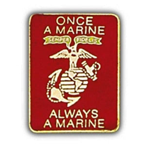 Once A Marine Small Hat Pin