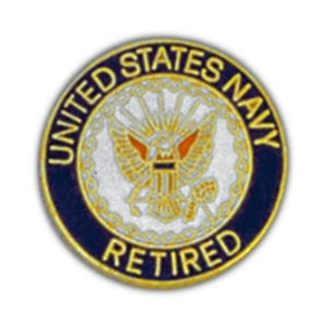 US Navy Ret. Small Pin