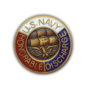 USN Honorable Discharge Small Pin