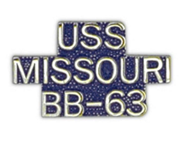USS MISSOURI BB-63 Small Pin