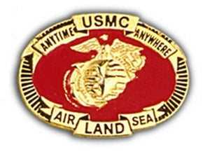 USMC Air , Land, Sea Small Hat Pin