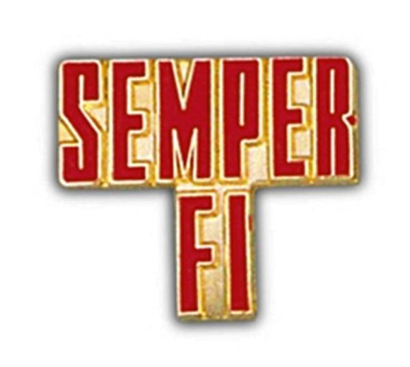 SEMPER FI Small Hat Pin