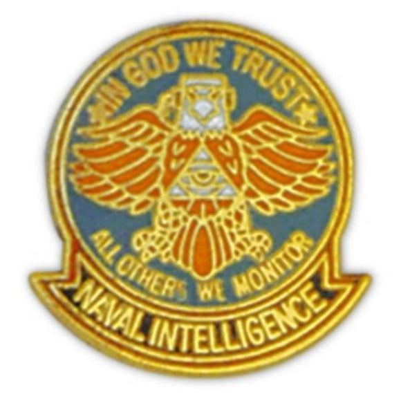 Naval Intel Eagle Small Pin