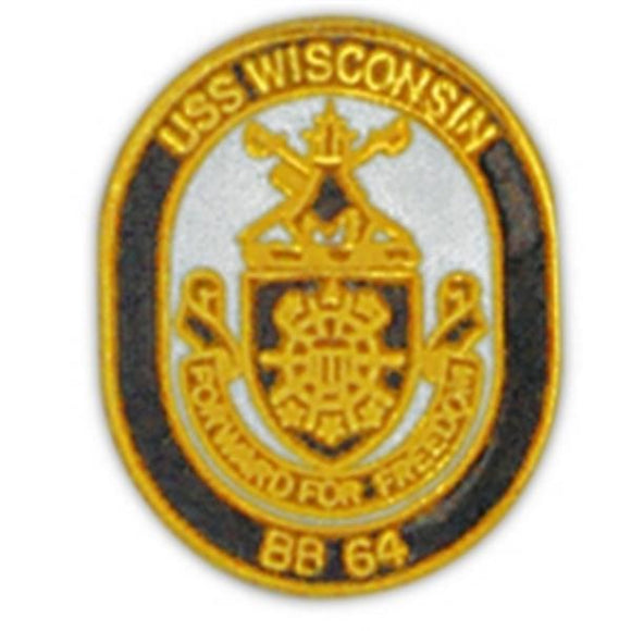 USS Wisconsin Small Pin
