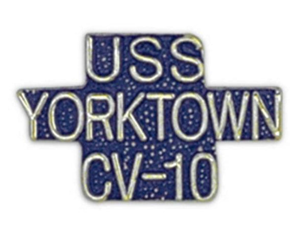 USS YORKTOWN CV-10 Small Pin