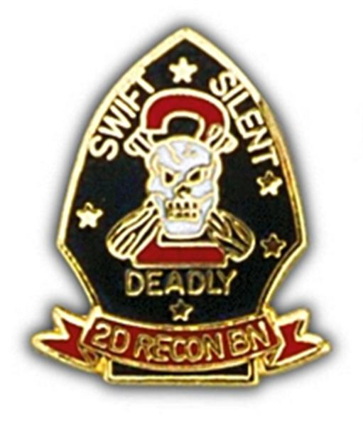 2nd Marine Recon BN Small Hat Pin