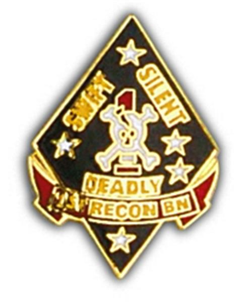 USMC 1st Recon Small Hat Pin