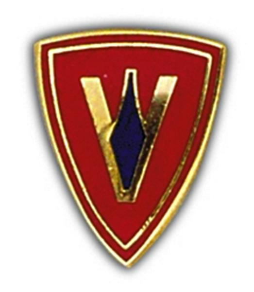 5th Marine Division Small Hat Pin