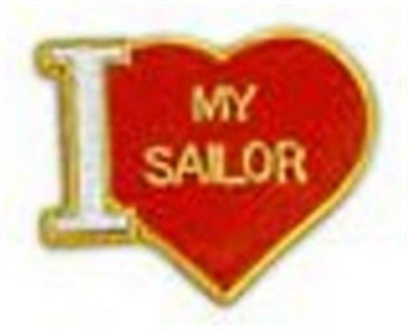 I Love My Sailor Small Pin