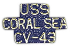 USS CORAL SEA CV-43 Small Pin