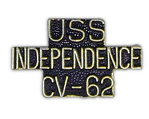 USS INDEPENDENCE CV-62 Small Pin