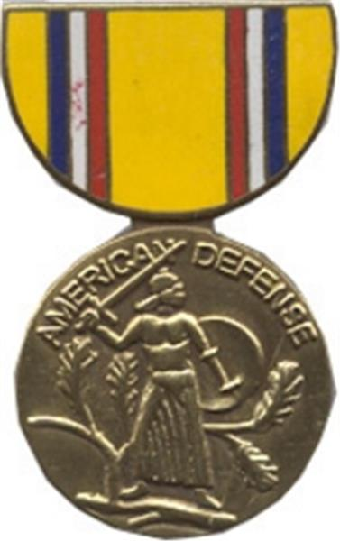 American Defense Mini Medal Small Pin