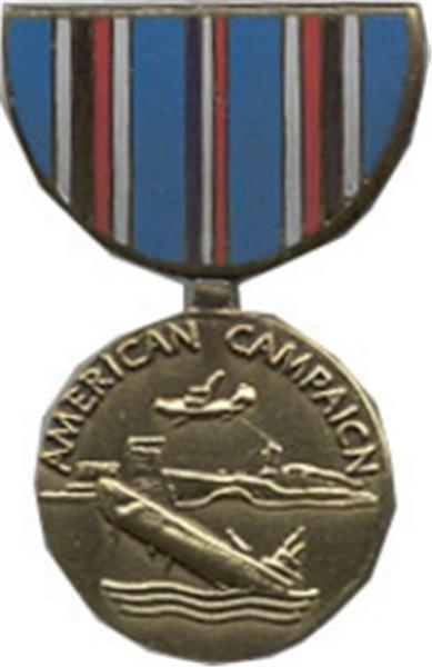 American Campaign Mini Medal Small Pin