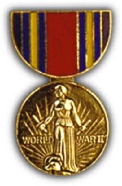 W.W. II Victory Mini Medal Small Pin