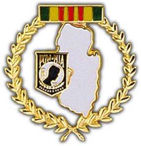 New Jersey POW Large Pin