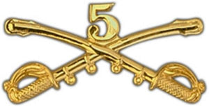5th Cavalry Large Pin