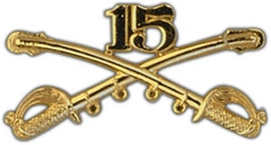 15th Cavalry Large Pin