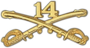 14th Cavalry Large Pin
