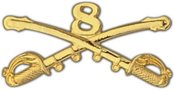 8th Cavalry Large Pin