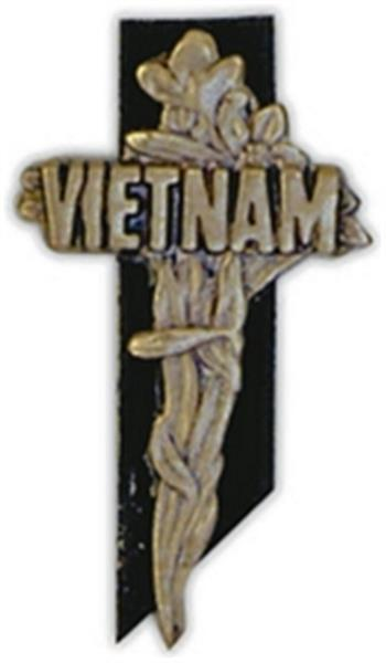 Vietnam Cross Large Pin