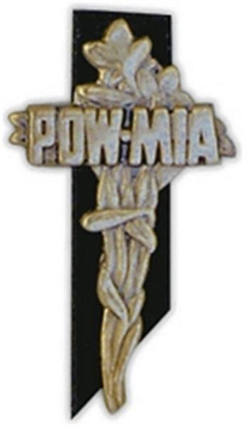 POW-MIA Cross Large Pin