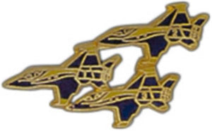 Three Blue Angels Large Pin