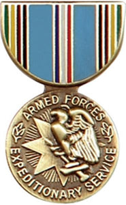Armed Forces Expeditionary Mini Medal Small Pin