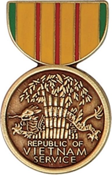 Vietnam Service Mini Medal Small Pin