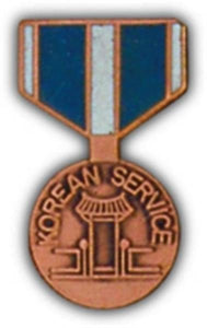 Korean Service Mini Medal Small Pin