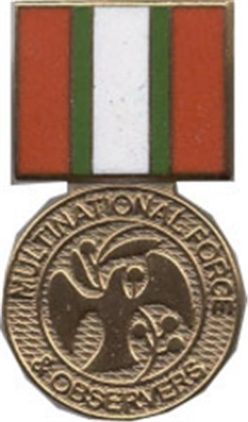 Multination Force Mini Medal Small Pin
