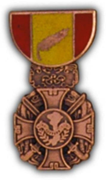 RVN Gallantry Cross Mini Medal Small Pin