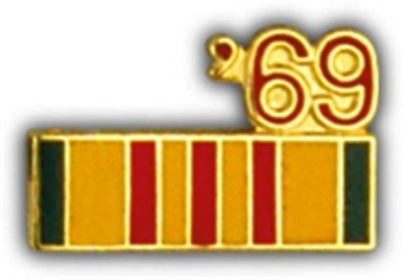 69 Vietnam Ribbon Small Pin