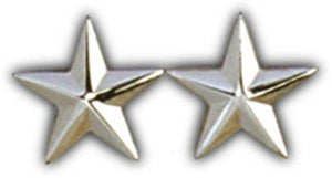 2 Star General Small Pin