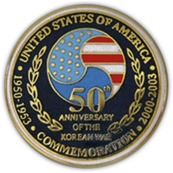 Korea 50th Anniversary Mini Medal Small Pin