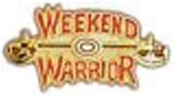Weekend Warrior Small Pin