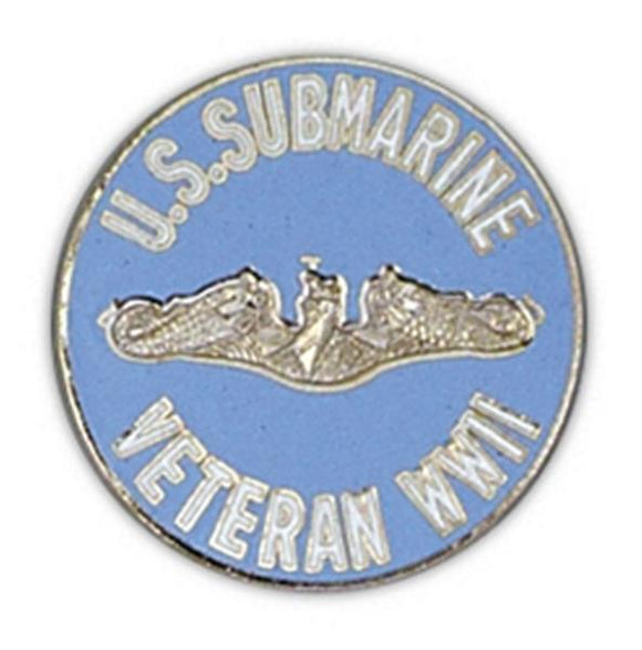 Submarine Veteran WWII Large Pin