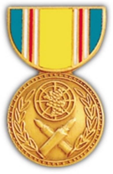 Korean War Service Mini Medal Small Pin