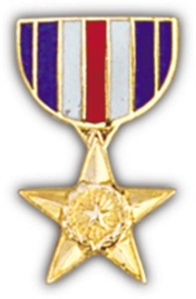Silver Star Mini Medal Small Pin