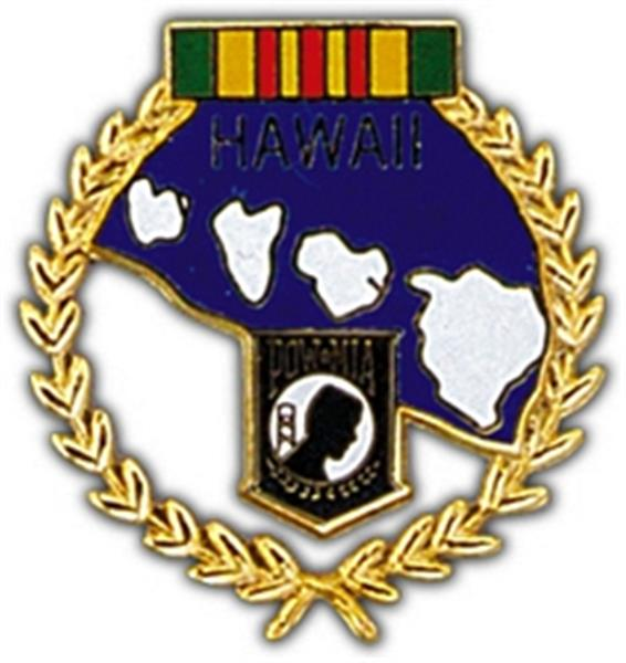 Hawaii POW Large Pin