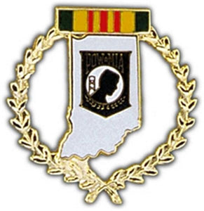 Indiana POW Large Pin