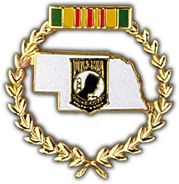 Nebraska POW Large Pin