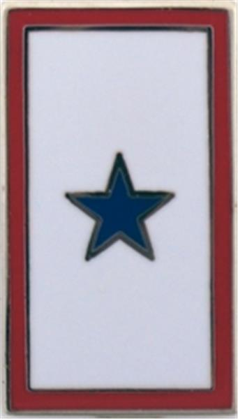 Blue Star Service Small Hat Pin