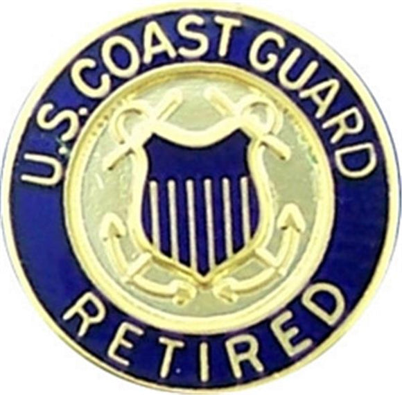 U.S. Coast Guard Retired Small Hat Pin