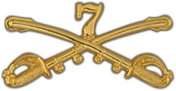 7th Cavalry Large Pin