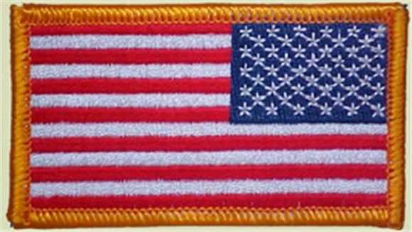 Full Color Reverse American Flag Patch - Military Standard