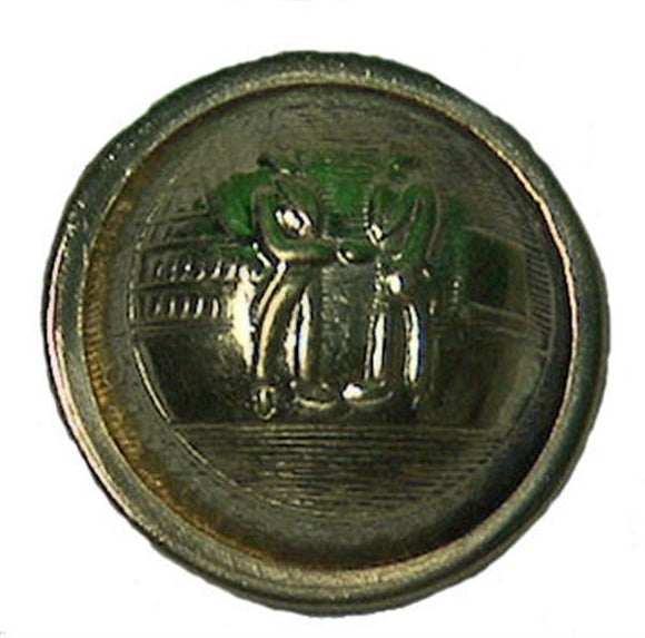 Civil War Confederate Brass Uniform Button - Kentucky