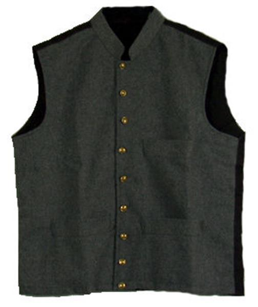 Civil War Confederate Grey Military Vest