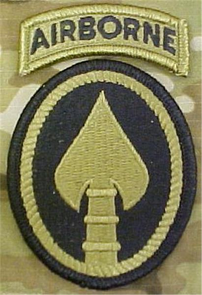 SOCOM US Army Special Operation Command OCP Patch with Airborne Tab